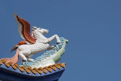 Pegasusbeeldhouwwerk Stock Fotografie