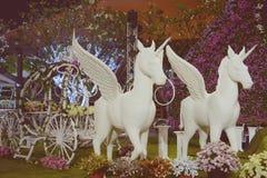 Pegasusbeeldhouwwerk Royalty-vrije Stock Afbeelding