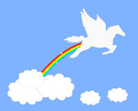 Pegasusregenboog Royalty-vrije Stock Foto