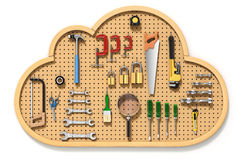 Pegboard in the cloud Stock Images