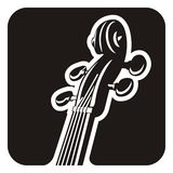 Pegbox скрипки Стоковые Фотографии RF
