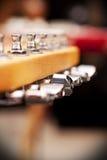 Pegbox della chitarra elettrica Fotografia Stock