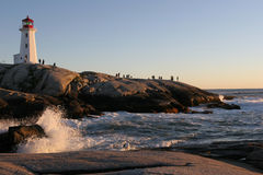 Peggy´s Cove at sunset Stock Photography