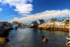 Peggy Bucht Nova Scotia Out zum Meer lizenzfreies stockbild