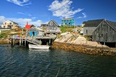 Peggy Bucht Nova Scotia Red Blue Green stockbilder