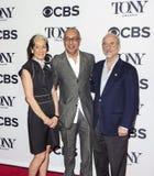 Peggy Eisenhauer, George C Wolfe i Jules Fisher, zdjęcia stock