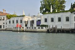 The Peggy Guggenheim Collection museum. The Peggy Guggenheim Collection as seen  from the Grand Canal. It is a modern art museum in the Dorsoduro district of Stock Images