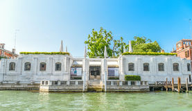 Peggy Guggenheim museum in Venice. The Peggy Guggenheim Collection is a modern art museum on the Grand Canal in the Dorsoduro sestiere of Venice, Italy. It is Royalty Free Stock Images