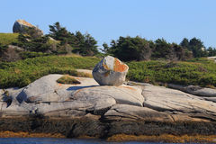 Peggy's Cove Erratic Royalty Free Stock Images