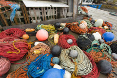 Peggy's Cove Fishing lines Stock Photo