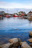 Peggy's Cove Harbor Vertical Royalty Free Stock Images