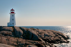 Peggy's Cove Lighthouse. On the rocks Royalty Free Stock Images