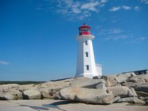 Peggy's cove lighthouse Royalty Free Stock Images