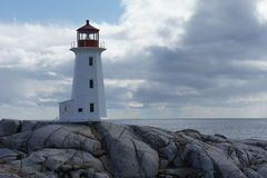 Peggy's Cove Lighthouse. The iconic lighthouse in Peggy's Cove, Nova Scotia, Canada stock photography