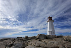 Peggy's Cove Lighthouse Royalty Free Stock Photos