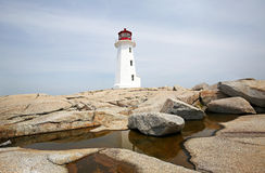 Peggy's Cove Lighthouse, Nova Scotia, Canada Stock Photos