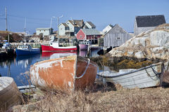 Peggy's Cove, Nova Scotia royalty free stock photos