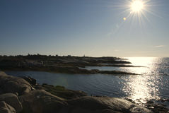 Peggy's Cove, Nova Scotia. From a distance Royalty Free Stock Images