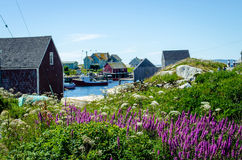 Peggy's Cove, Nova Scotia royalty free stock photos