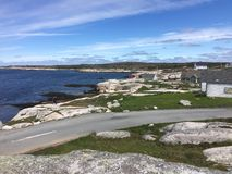 Peggy`s Cove view of the coast line royalty free stock photos