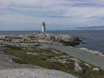 Peggy ` s zatoczki Lekki dom w Halifax nowa Scotia, atrakcja turystyczna zdjęcie royalty free