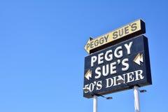 Peggy Sue-` s 50 ` s Abendessen Stockfotografie