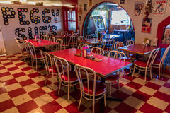 Peggy Sue's Americana Route 66 inspired diner in Yermo, California about eight miles outside of Barstow Stock Image