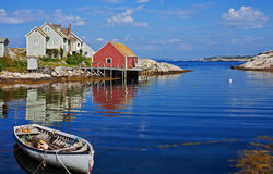Peggys Cove harbor, Nova Scotia Royalty Free Stock Photo