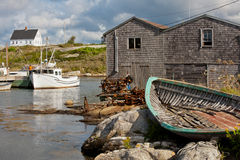 Peggys Cove house stock photography