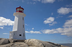 Peggys Cove Lighthouse. The lighthouse at Peggys Cove on a warm, sunny, summer day Stock Photo