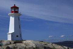 Peggys Cove Lighthouse Stock Image