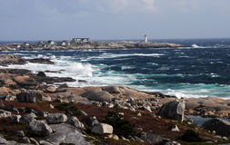 Peggys Cove Lighthouse Royalty Free Stock Photo