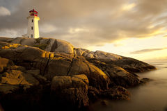 Peggys Cove lighthouse Stock Photos