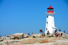 Peggys Cove Lighthouse Royalty Free Stock Photos