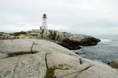 Peggys Cove Lighthouse Royalty Free Stock Images