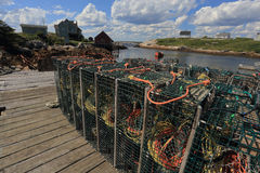 Peggys Cove Lobster Pots Royalty Free Stock Image