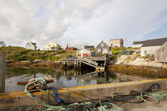 Peggys cove village Royalty Free Stock Image