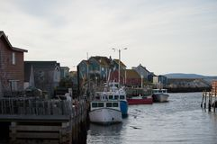 Peggys cove village port, Canada. Port of the city, ships, boats. Peggys cove port, canada, nova scotia. Old and classic town. Main money income, lobster and stock photography
