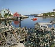 Peggys liten vik, Nova Scotia royaltyfria foton