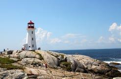 Peggys liten vik, Nova Scotia Royaltyfria Bilder