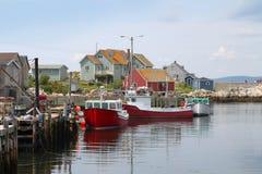Peggys liten vik, Nova Scotia arkivfoto