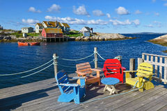 Peggys liten vik, Nova Scotia, Kanada Arkivbild