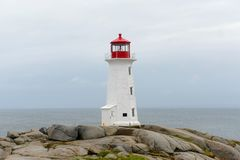 Peggys Point Lighthouse, Nova Scotia, Canada Royalty Free Stock Image