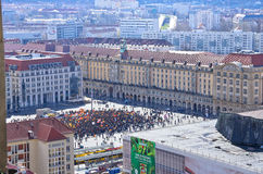 PEGIDA Demonstration, Dresden, Germany Stock Image