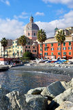 Pegli, genoa, italy. Mediterranean village Royalty Free Stock Image
