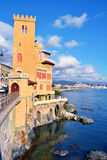 Pegli, genoa, italy. Mediterranean village Royalty Free Stock Photography