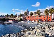 Pegli Genua, Italien arkivfoto
