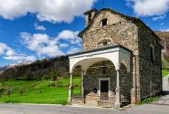 Peglio (Lago di Como) old church Stock Image