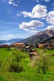 Peglio (Lago Di Como) panorama Stock Foto's