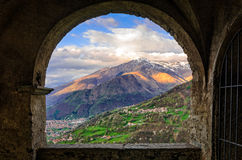 Peglio (Lago di Como) view from Chiesa di S. Eusebio Stock Photo